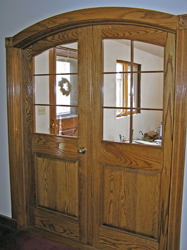 curved oak door
