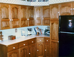 oak arch panel kitchen