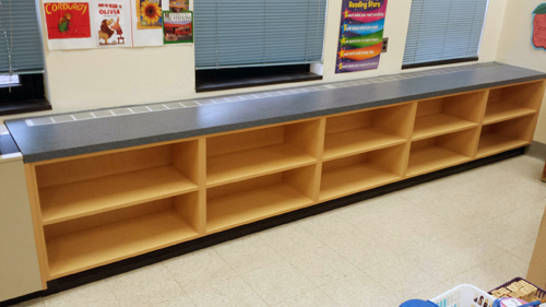 school laminate bookcases