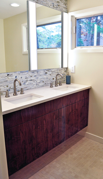 walnit wall hung vanity
