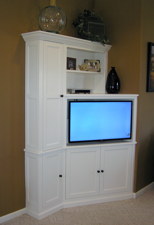 Tv Stand Designs Wall : Corner tv cabinet